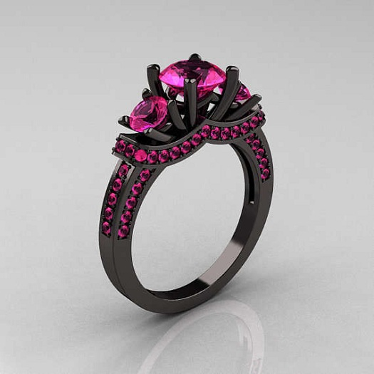 Ebony Engagement Ring