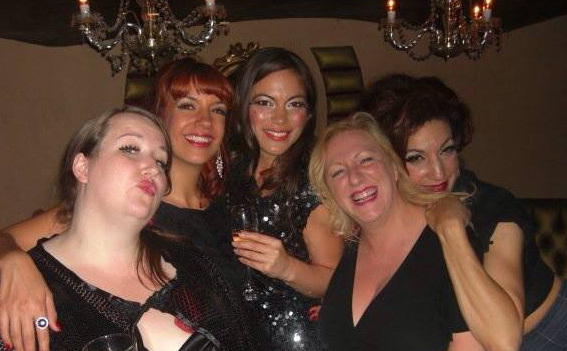 Director Jayne Hardy, Kiki Kaboom, Chloe Ewart, Jo King and Luna Rosa - some of the original Burlexe family