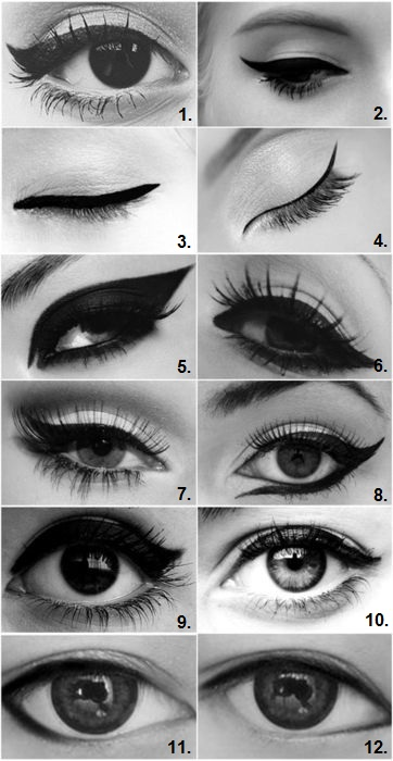 Different Eyeliner Styles